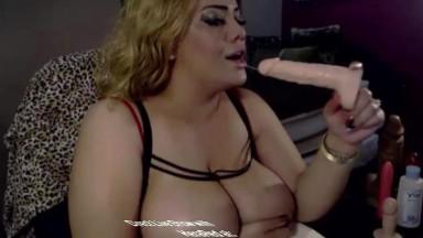 Stunning huge boobed latin bbw Kera titty fucking show