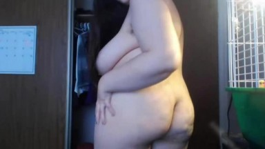 Curvy Miss J with hairy armpits and fat hairy pussy
