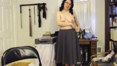 Full bush princess squirter Iolite with sexy glasses