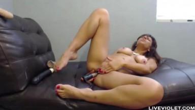 Lactating super squirter Brianna enjoying ass fucking
