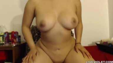 Bootiful latin Anna Ferrari with big tits rides a dildo