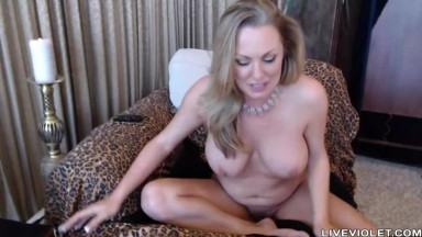 Playful squirting pale MILF Nikki with perfect big tits