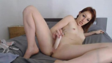 French erotic slut with pierced tongue and tiny titties