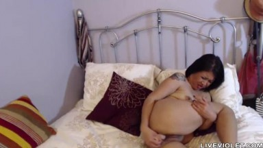 Asian polite mature Lizveth with nice tits masturbates