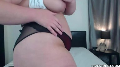 Blond BBW Roxie with tightest fat ass you've ever seen