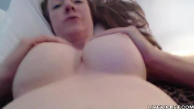 Filthy talking BBW mature Jamie with pierced pussy lips