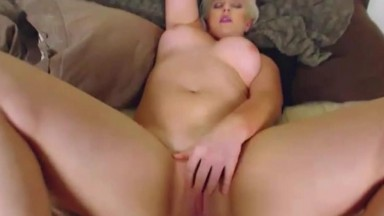 Horny dirty talk pro blonde Holly with a hot curvy body