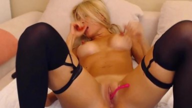 Gorgeous blond BBC cuckold Luan with the hardest nipples