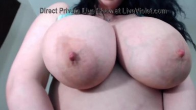 Horny brunette MILF Jen with curvy ass and immense tits
