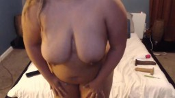 Blonde BBW Lisa with massive melons here to get you off