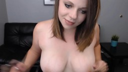 Seductive kinky Nikki with big natural boobies squirting