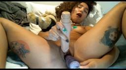 18 Lola with long nails and red heels gets double toyed