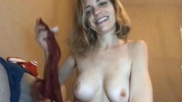 Lovely skinny mom Lola who does yoga and plays with toys