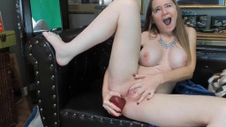 Tiny spinner Milf horny when you jerk your dick for her