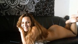 New to this brown haired Stella Skye gets intense orgasm