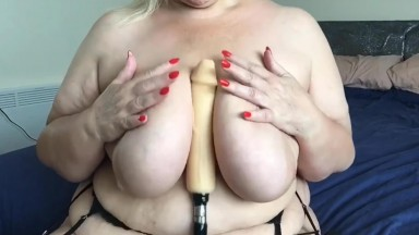 Busty lady Madeline teasing horny men and wanting more