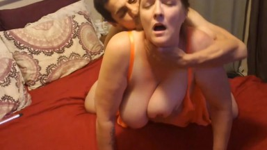 Yummy lips enjoys small dick while she gets her ass licked