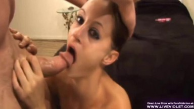 Pregnant chick gagging big dick and anal fucks