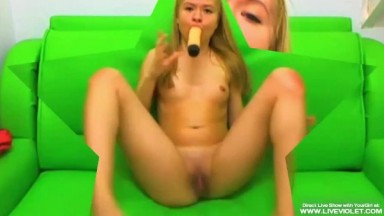 Young petite blonde girl loves to fucks her ass